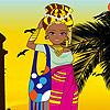 لعبة تلبيس الفتاة الأفريقية