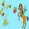 لعبة تلوين الولد و الحصان