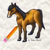 لعبة تعليم رسم حصان