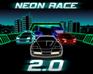 لعبة سباق السيارات النيون