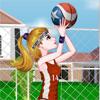 لعبة تلبيس لاعبة كرة السلة