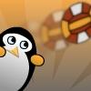لعبة  البطريق و الكرة الطائرة